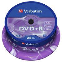 Für weitere Info hier klicken. Artikel: Verbatim DVD+R 16x Matt Silver 25x